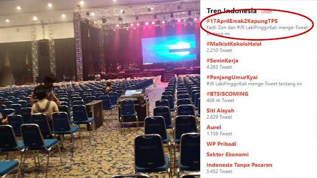 Konser Tribute to Ahmad Dhani Batal, Tagar #17AprilEmak2KepungTPS jadi Trending Topic