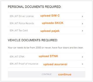 Upload Dokument Cara Daftar Uber Motor Online