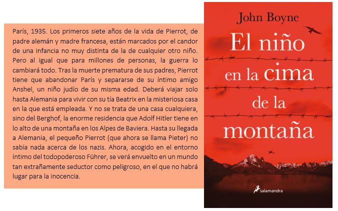 Reseña: El niño en la cima de la montaña - John Boyne - A