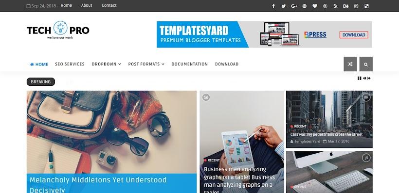 Tech Pro Free Blogger Template