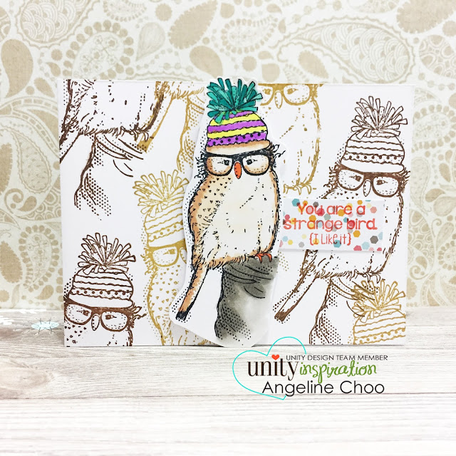 ScrappyScrappy: Strange Bird with Unity Stamp #scrappyscrappy #unitystampco #stamp #stamping #card #cardmaking #versafine #quicktipvideo #youtube #video