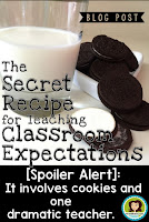 Classroom Expectations Cookie Lab makes conveying your expectations fun and memorable!