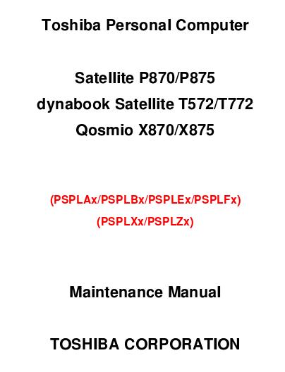Manuales de Jvare: Manual de servicio portátil Qosmio X870