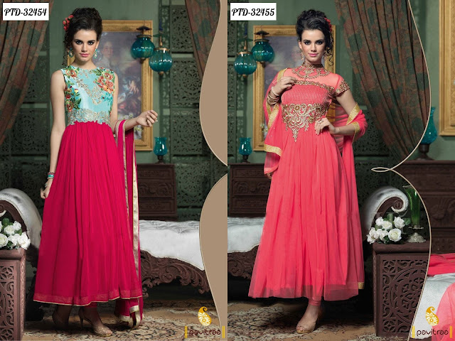 Gown style anarkali suits online shopping with discount sale