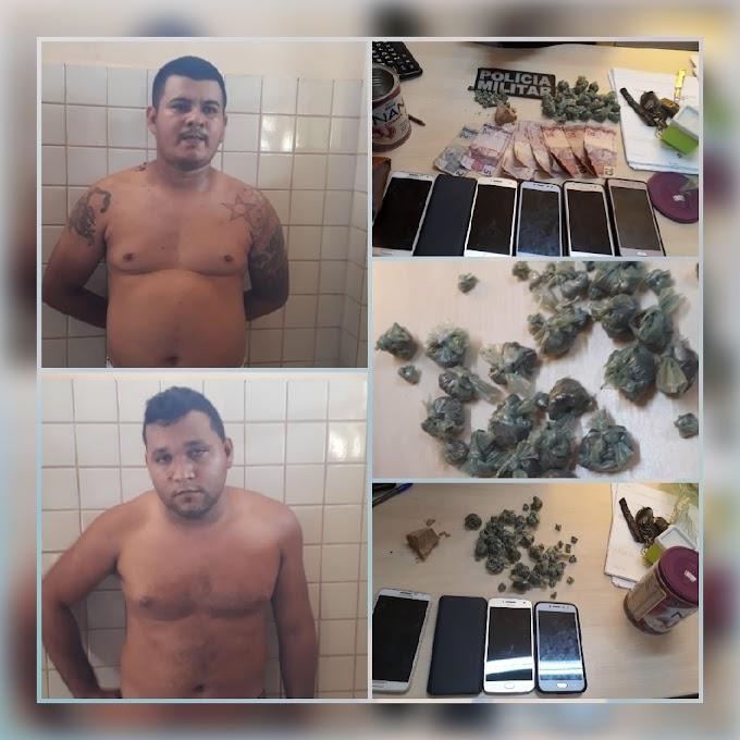 Polícia Militar agindo contra o tráfico de drogas no município de Trairão