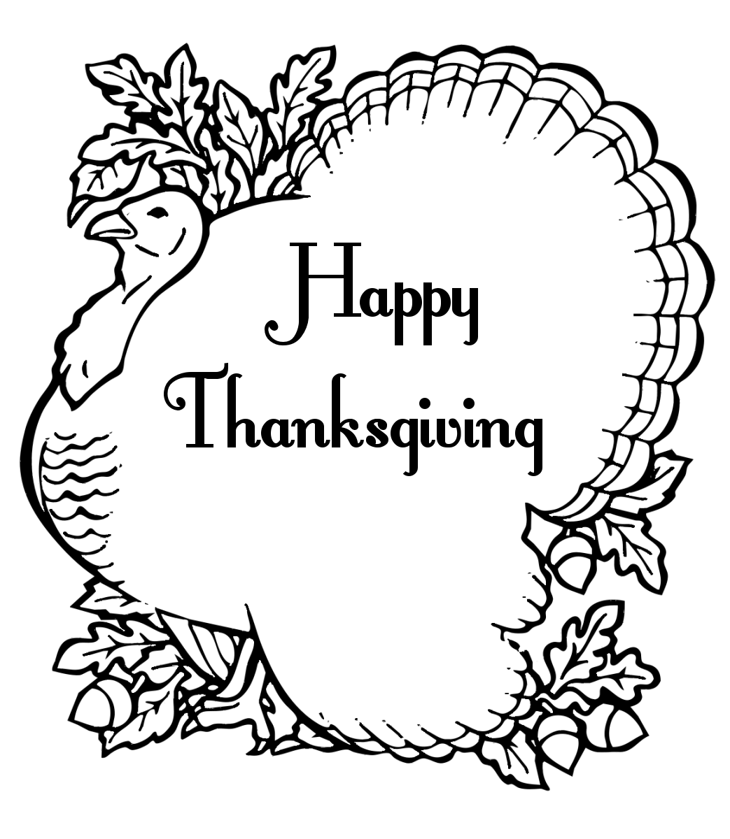 Thanksgiving clipart coloring pages ~ Thanksgiving Party Ideas | 7thriv