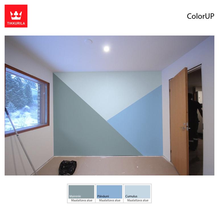 tikkurila tehosteseinä maininki cumulus päiväuni color up värisuunnitteluohjelma