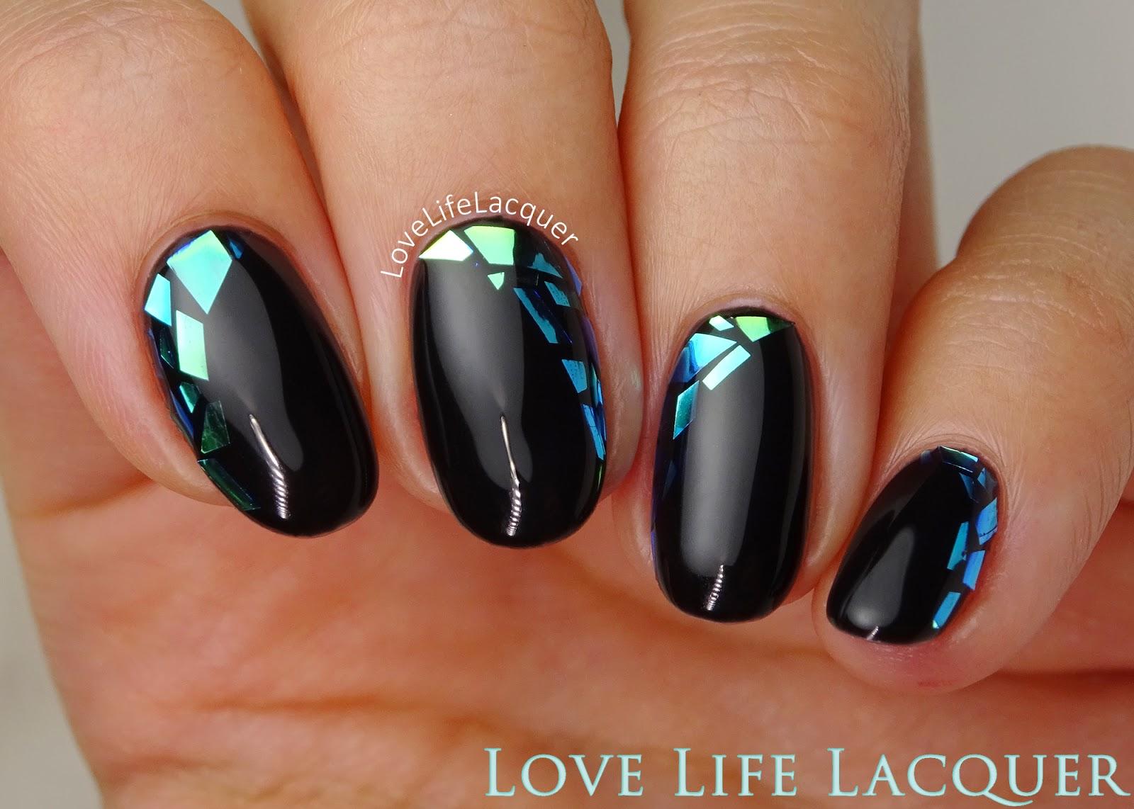 Love life lacquer mosaic gel nails using foil nail art mosaik foil nail art prinsesfo Images