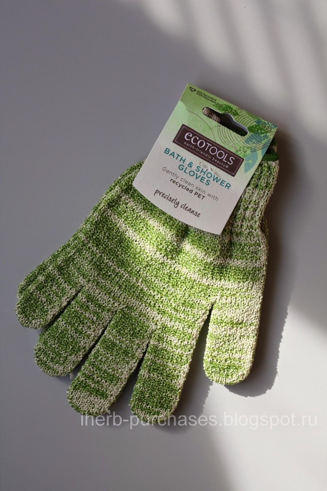 перчатки для душа, мочалка, отзыв, iherb