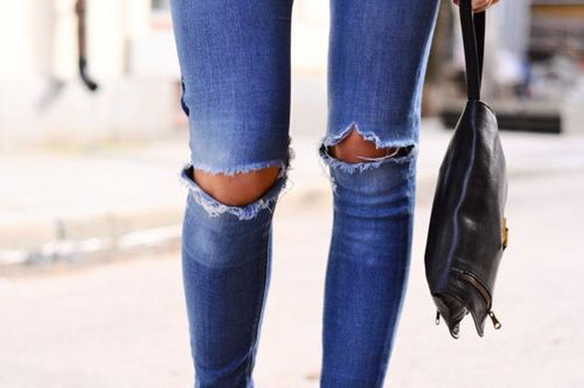 Ripped Knee Denim - Flip And Style