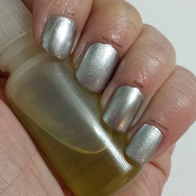 Put Up Your Dupes - Sally Hansen Silver Sweep vs Essie No Place Like ...