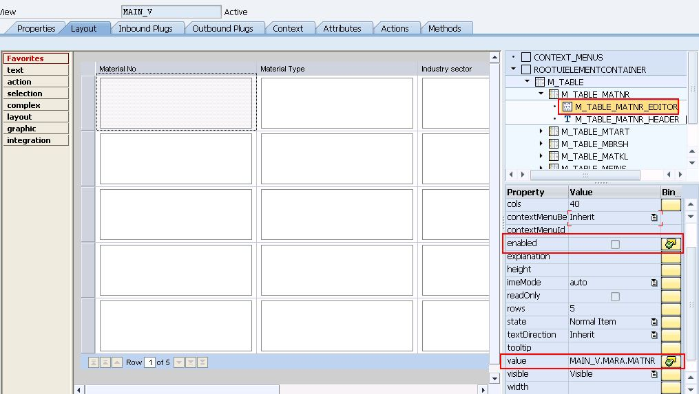 SAP Sample Programs: Dynamically make cell readonly in table
