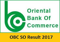 OBC SO Result