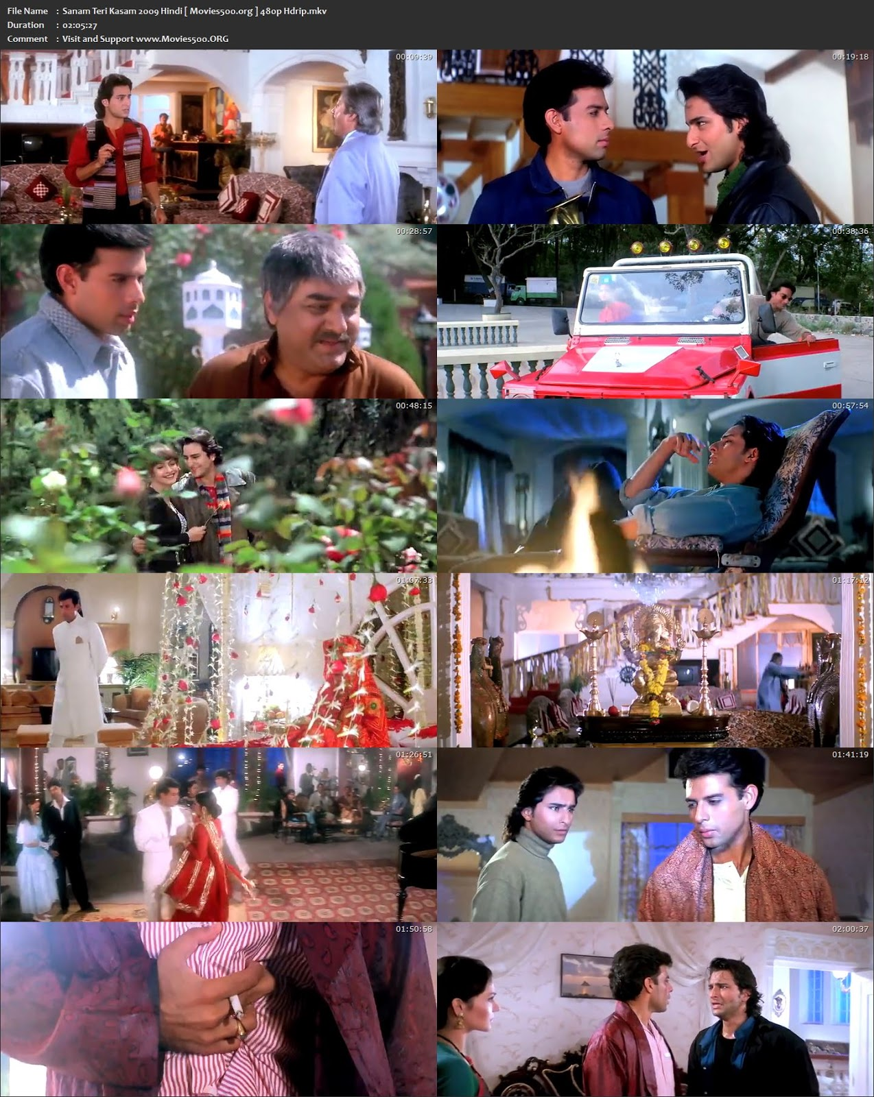 Sanam Teri Kasam 2009 Bollywood 300MB HDRip 480p at movies500.site