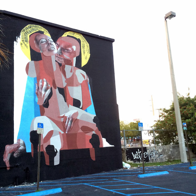 Street Art By British Duo BEST | EVER at Mana Wynwood in Miami For Art Basel 2013.