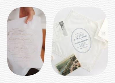 Pañuelos-invitación personalizada para eventos como bodas