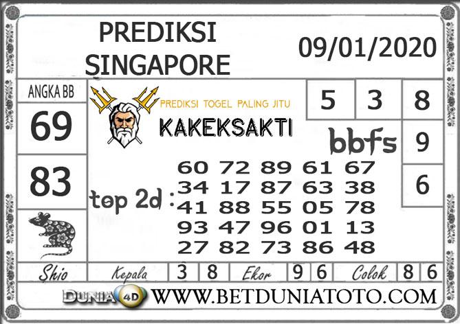 PREDIKSI TOGEL SINGAPORE DUNIA4D 09 JANUARI 2020