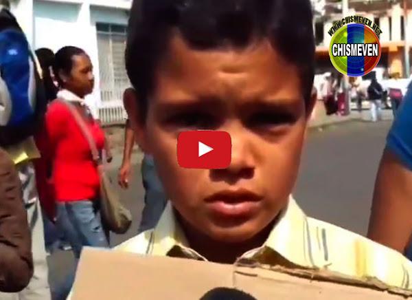 Niño larense admite que en su casa sólo comen cambur todo el día