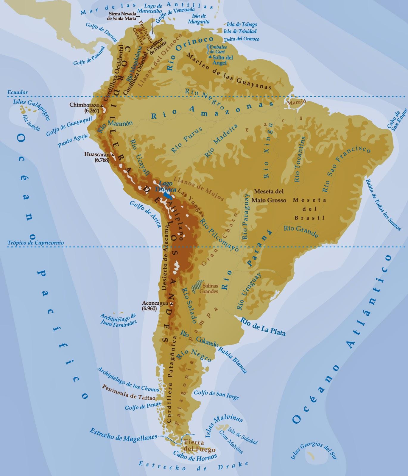 Mapa Fisico America Mudo Pdf.Geografia E Historia Tietar Mapa Fisico De America