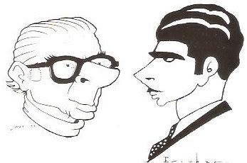 Autorretratos caricatura de Josep Escobar