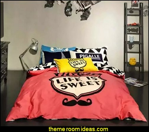 Cartoon Mustache 4-Piece Duvet Cover Sets