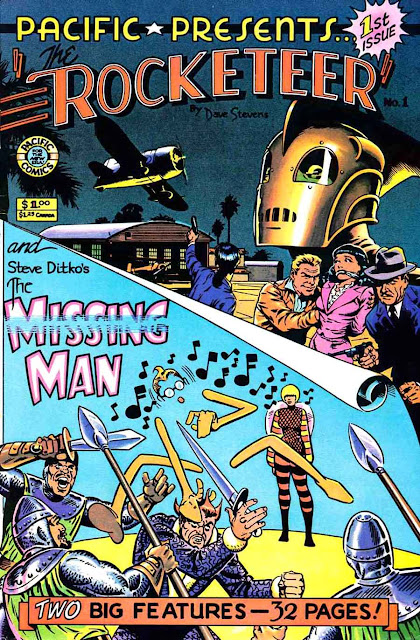 Pacific Presents v1 #1, 1982 comic book cover - 1st Missing Man by Steve Ditko