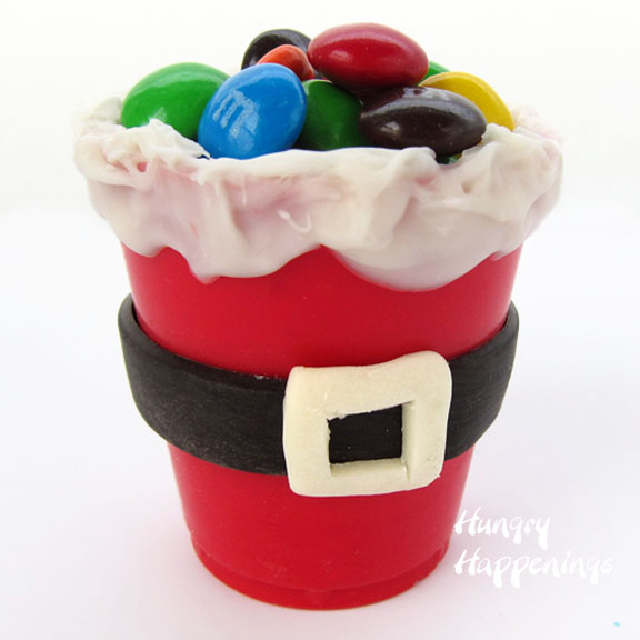 Edible Santa Suit Candy Cups