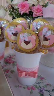 pirulitos decorados tema ursa princesa