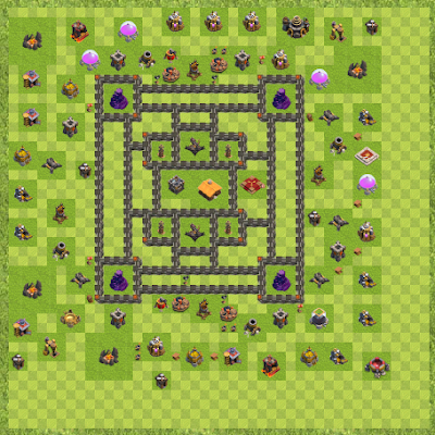 War Base Town Hall Level 9 By aannjj (dd TH 9 Layout)