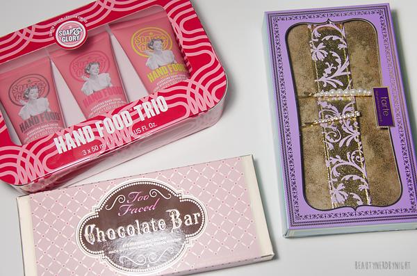 Beauty Haul, Sephora, Too Faced, Chocolate Bar Palette, Tarte, Christmas Sets