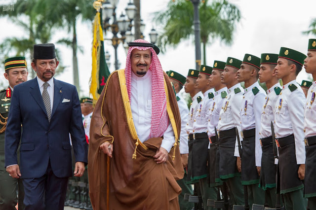 Image Attribute: Brunei's Sultan Hassanal Bolkiah of Brunei Dar Al-Salam  and Saudi Arabia's King Salman bin Abdulaziz al-Saud / Source: Saudi Press Agency