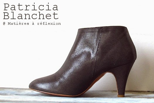 Patricia Blanchet chaussures cuir bottines taupes ouvertes brillantes