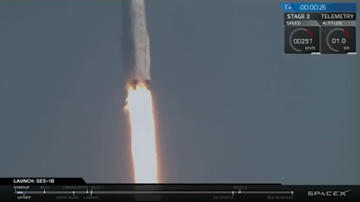 Falcon 9 powering away