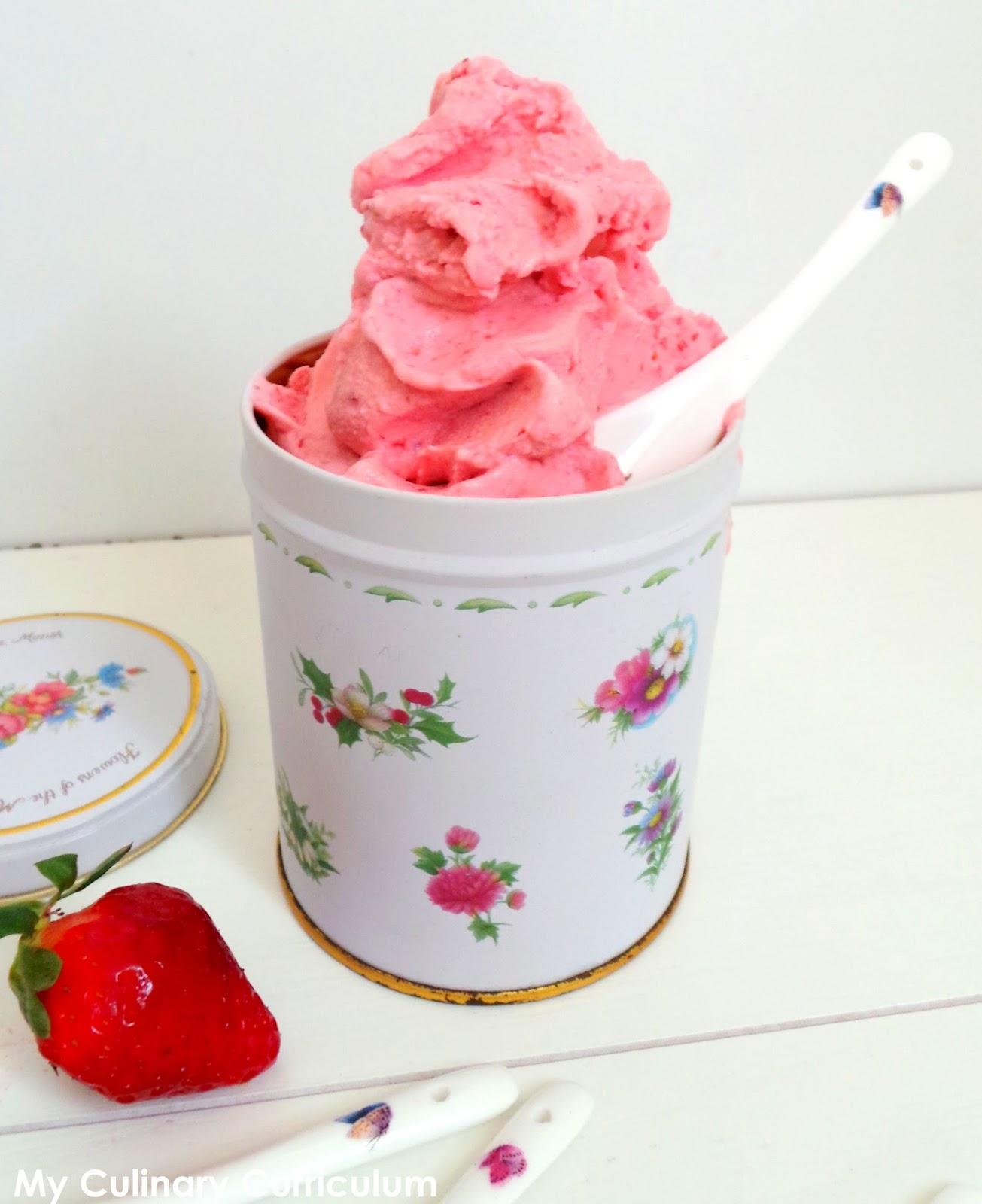 my culinary curriculum  glace au yaourt et  u00e0 la fraise