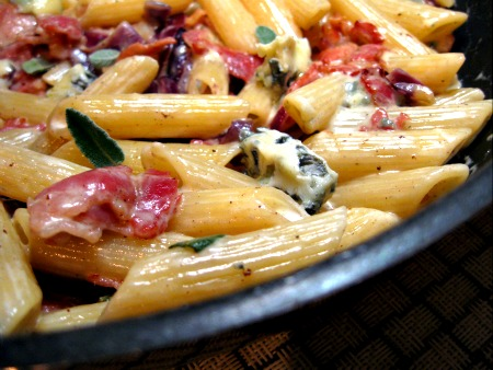 Stilton, Bacon and Sage Penne