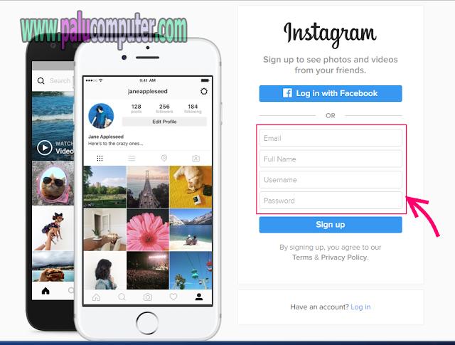 cara mendaftar instagram