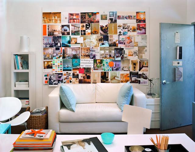 Desejo do Dia: decoração de escritório lindo, branco, feminino. Blog Achados de Decoração