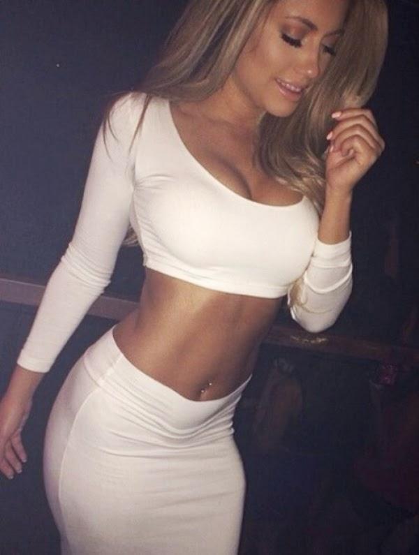 Blonde fucking in mini skirt