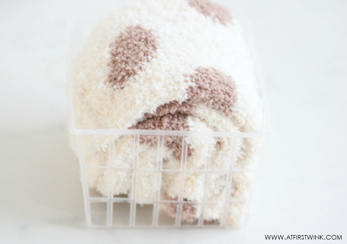DIY: sock/underwear/scarf basket