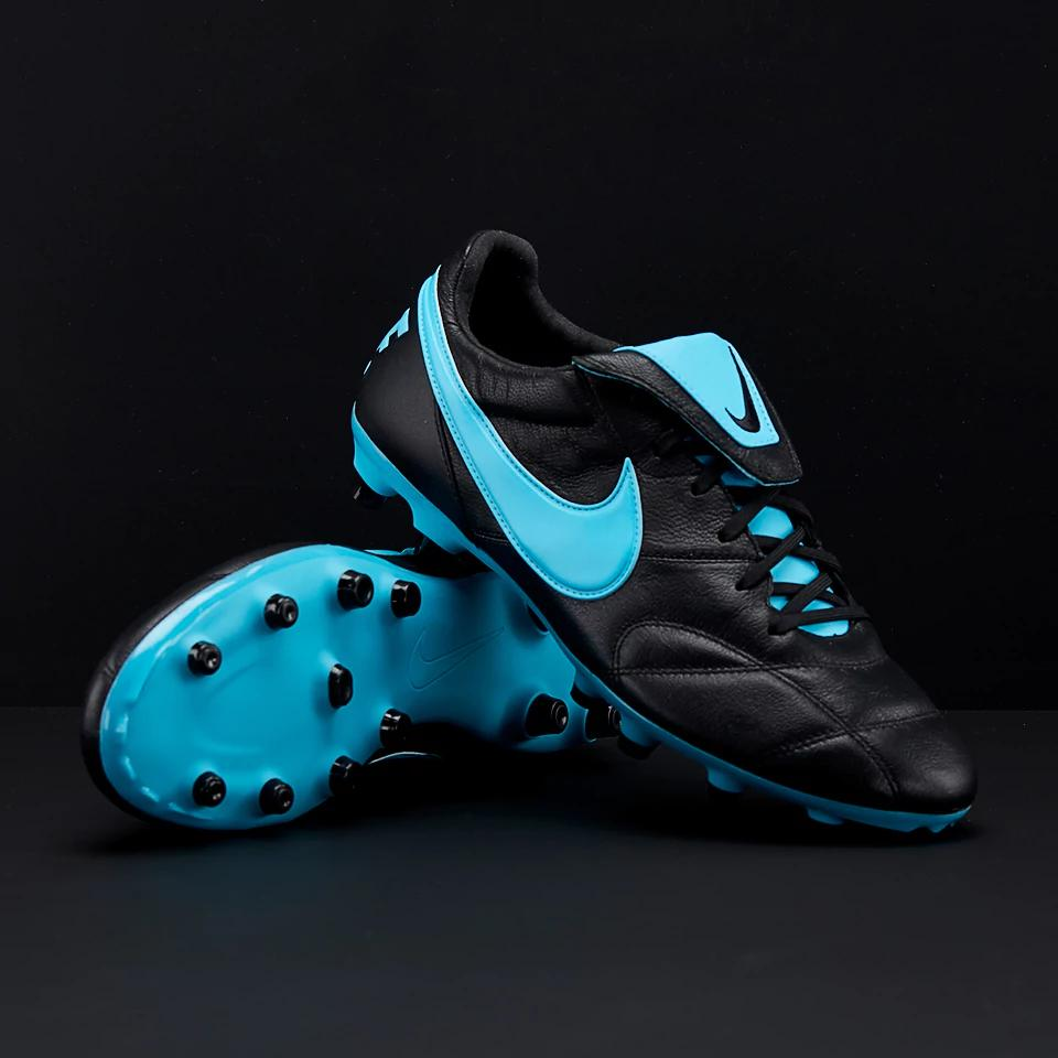 This is the new black and light blue Nike Premier 2 soccer cleat (pictures  via ProDirect, Soccerbible).