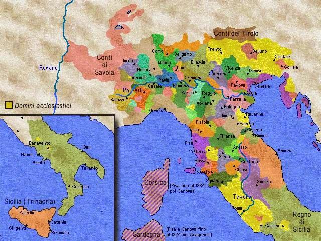 Cartina Italia Nel 400.La Storia In Un Click Storia Medievale