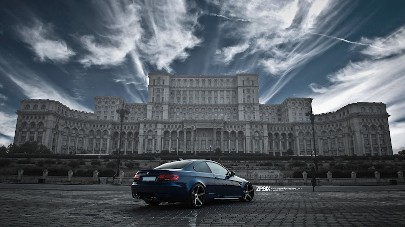 BMW E92 M3 in front of Palace of the Parliament