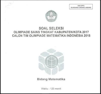 Soal OSN Matematika SMA/MA Tingkat Kabupaten/Kota 2017
