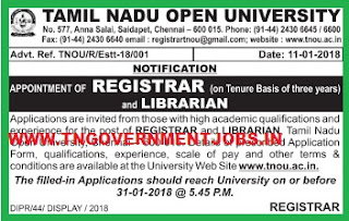 tnou-librarian-recruitment-registrar-recruitment