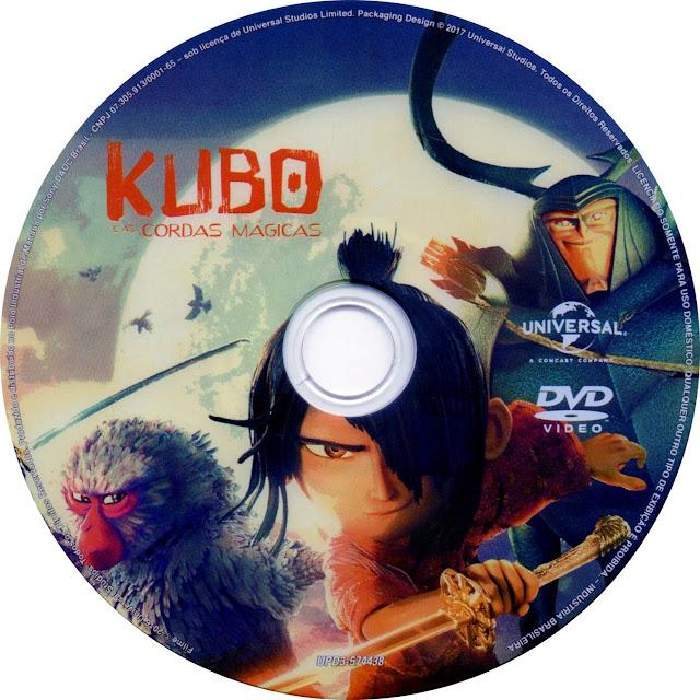 Label DVD Kubo e as Cordas Mágicas