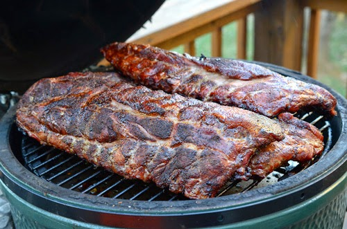 kamado ribs, big green egg ribs, grill dome ribs