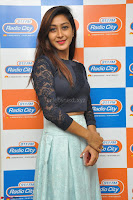 Shravya in skirt and tight top at Vana Villu Movie First Song launch at radio city 91.1 FM ~  Exclusive 34.JPG