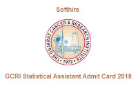 GCRI Statistical Assistant Admit Card