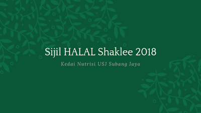 Sijil HALAL Shaklee 2018