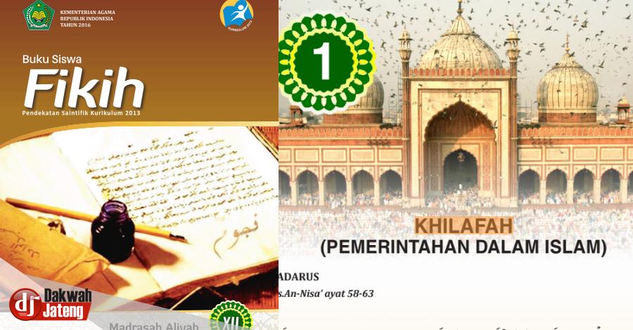 Buku Resmi Fikih MA Kelas XII Ajarkan Khilafah,